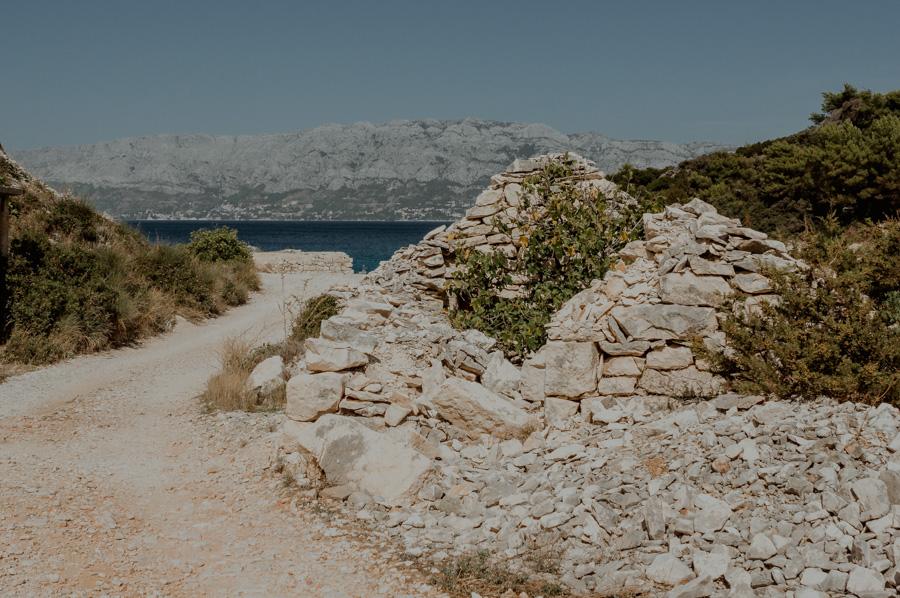 Povlja, old ruins