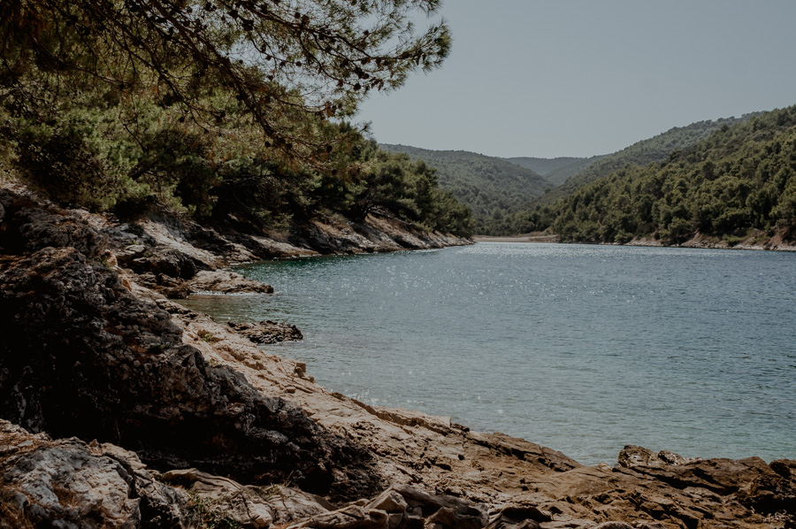 secluded beaches, island of Brač, Croatia