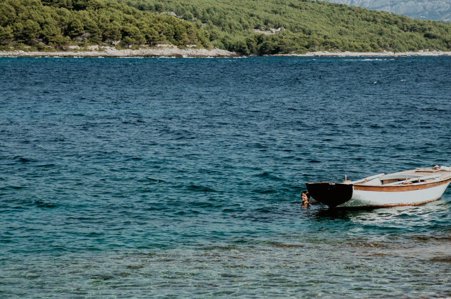 bay in Sumartin, Croatia