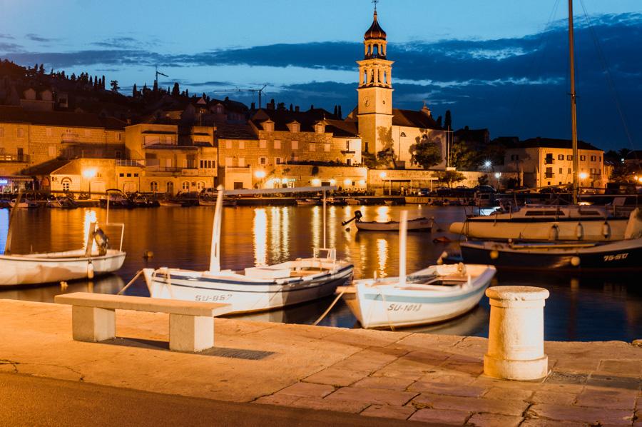 Sutivan by night, the island of Brač