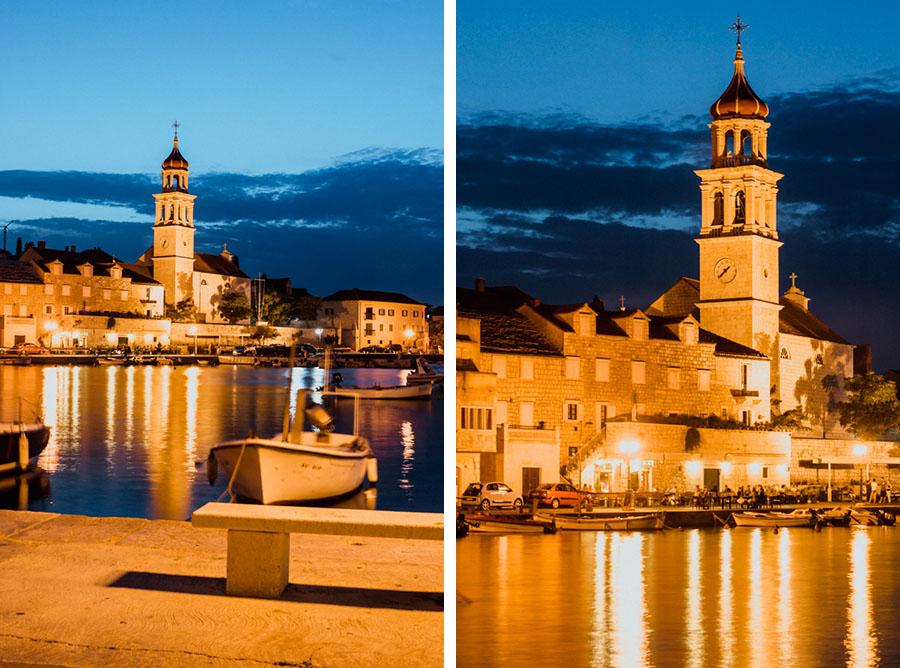 Croatia, island of Brač, night Sutivan