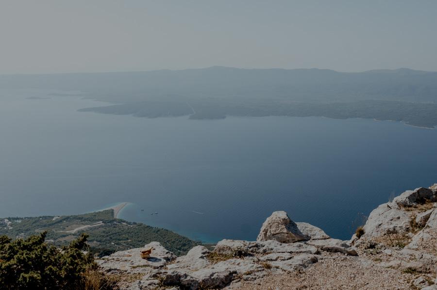 Vidova Gora peak in Croatia