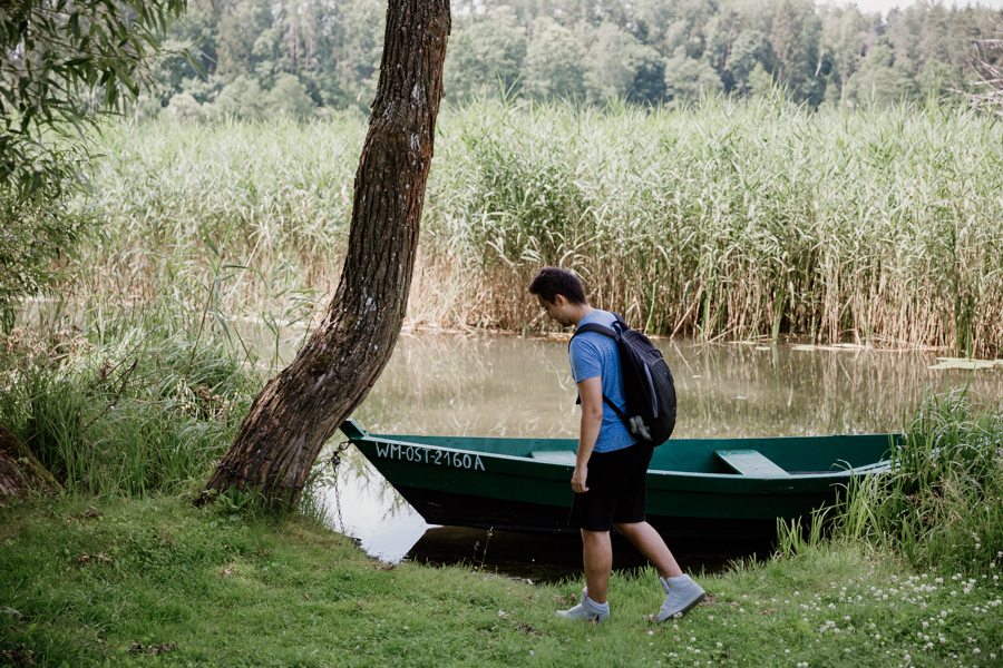 okolice Olsztyna- jezioro Dąbrowa Mała, Dąbrówno