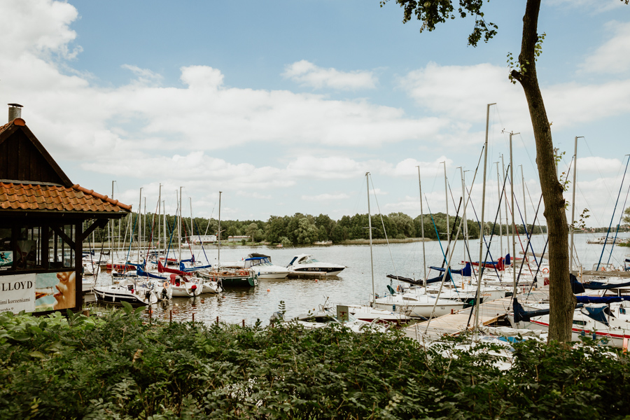 "The port next to the restaurant ""Pod Omegą"" Iława"