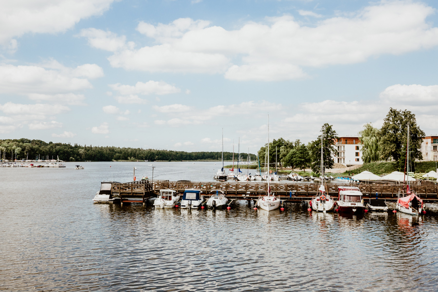 The bridge separating Jeziorak lake and Mały Jeziorak lake- Iława