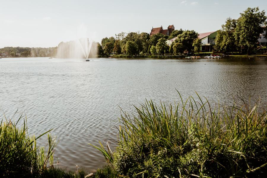 Mały Jeziorak- widok na centrum Iławy