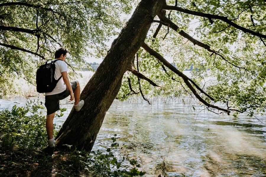 Mragowo, Czos Lake - a walk