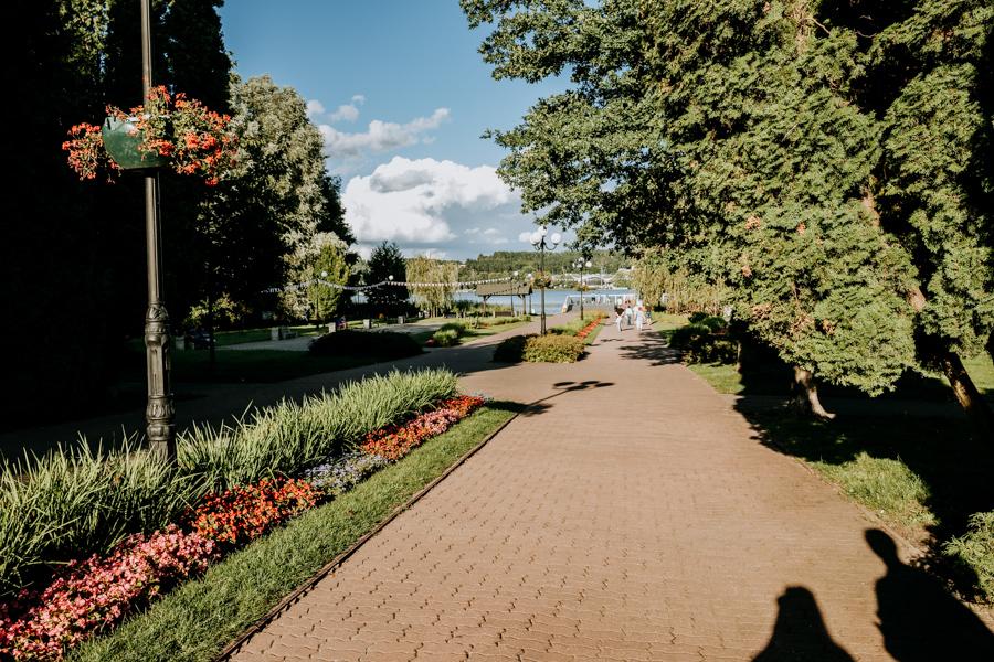 avenue leading to Czos Lake, Mragowo
