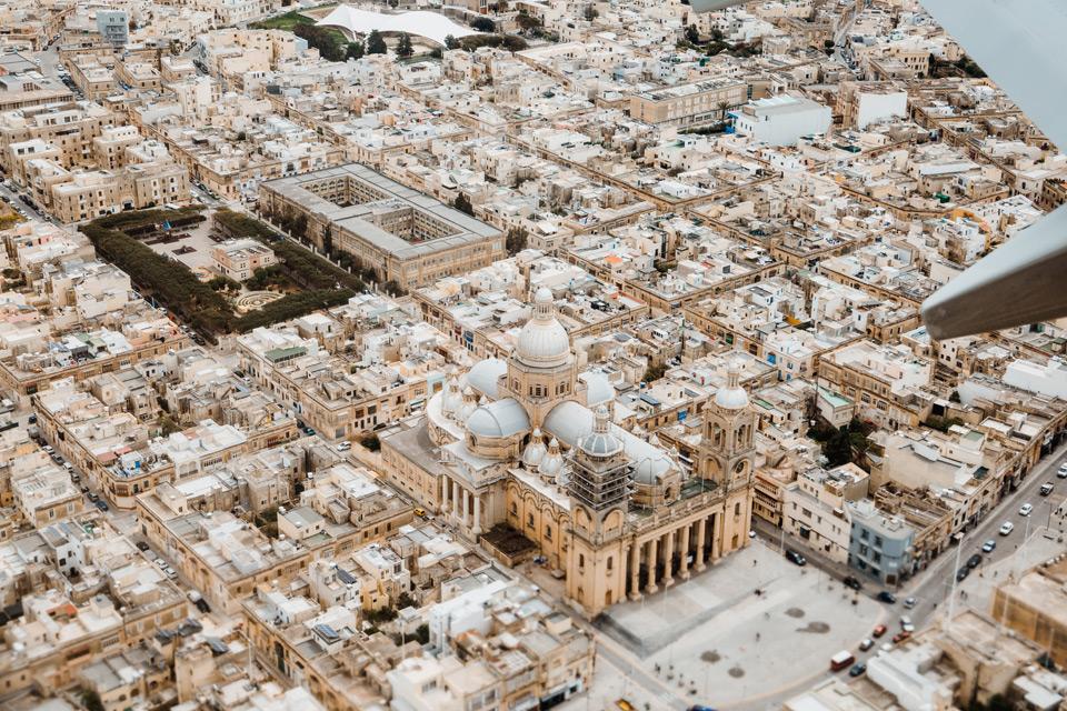 Malta- widoki z samolotu