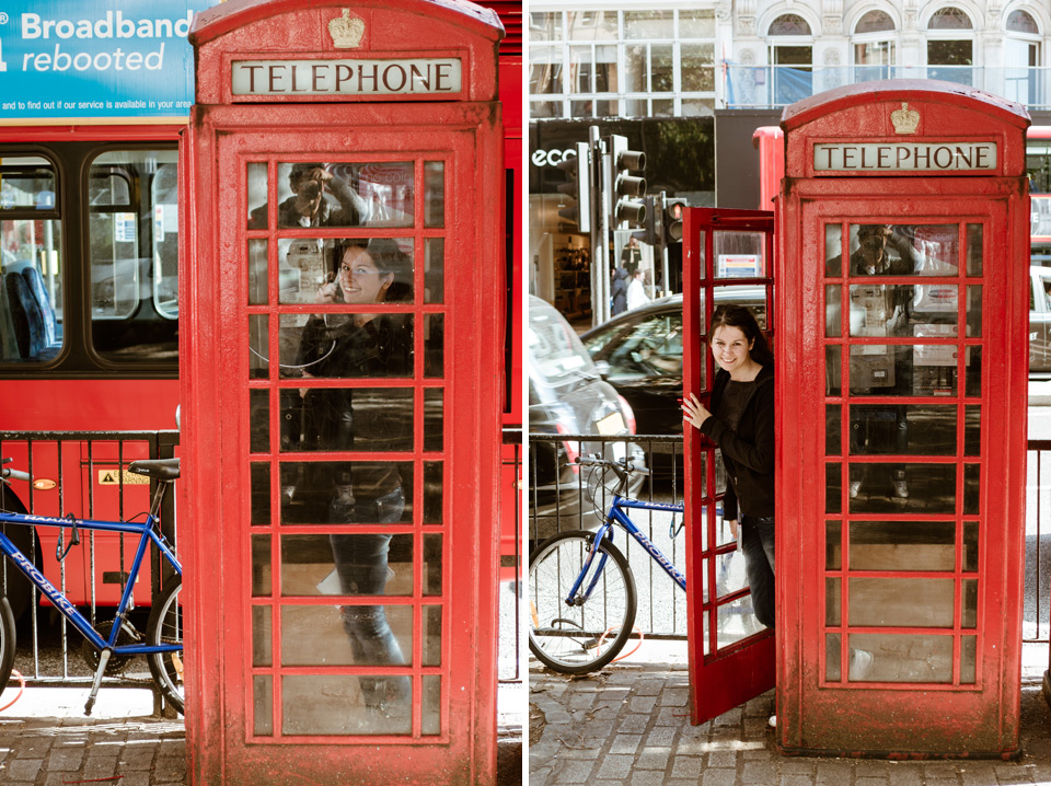 London, red phone booths