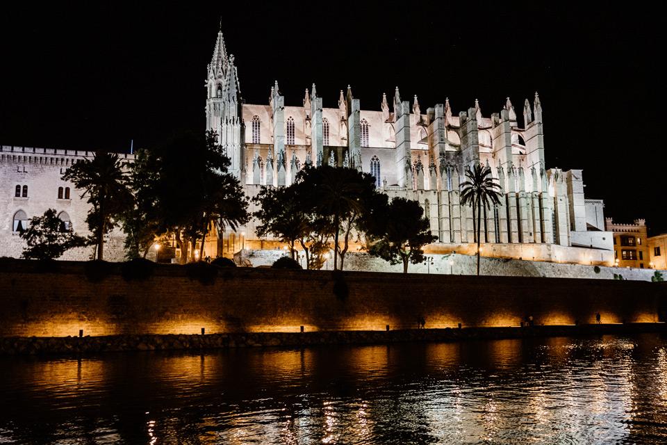 Palma de Mallorca- katedra nocą