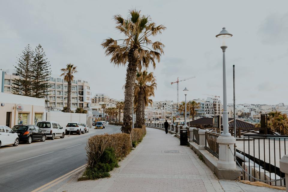 Malta, Bugibba- promenada
