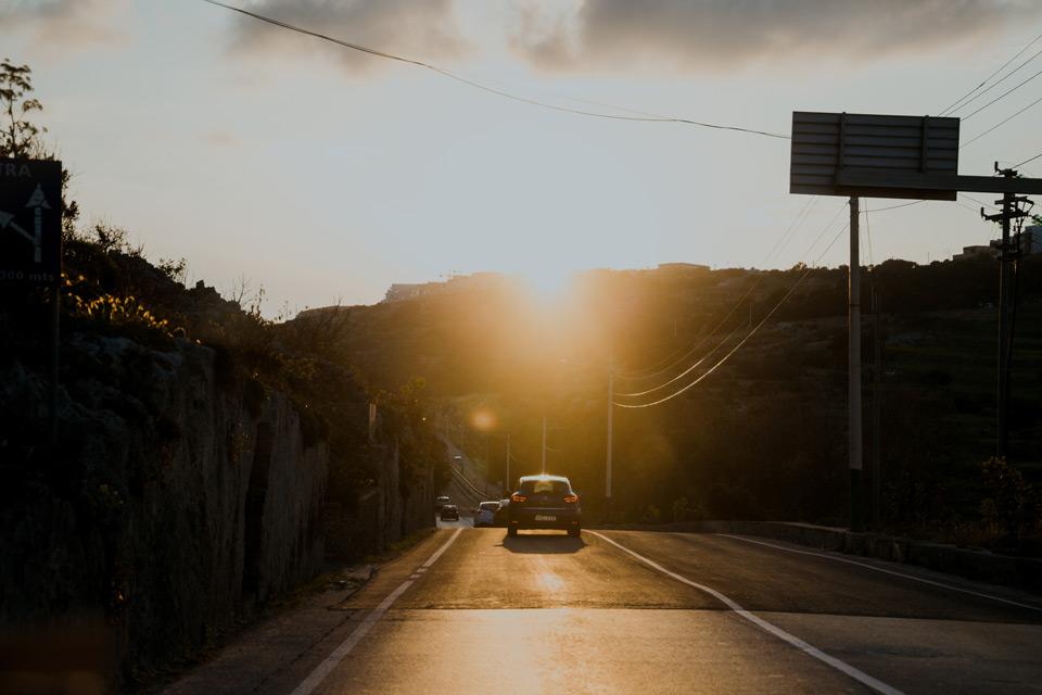 Malta, Bugibba- zachód słońca