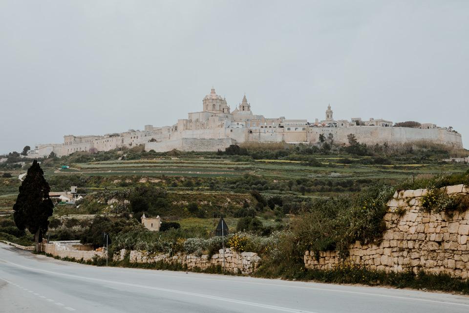 Malta, view of Mdina city