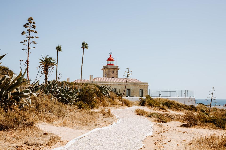 Lagos, lighthouse near Ponta de Piedade