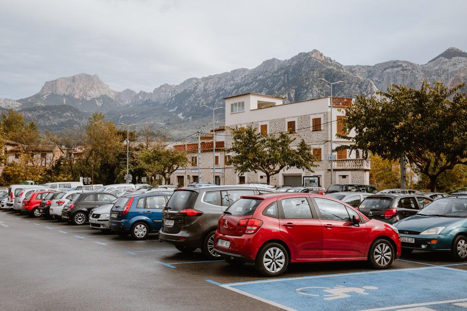 Mallorca, Soller- car park