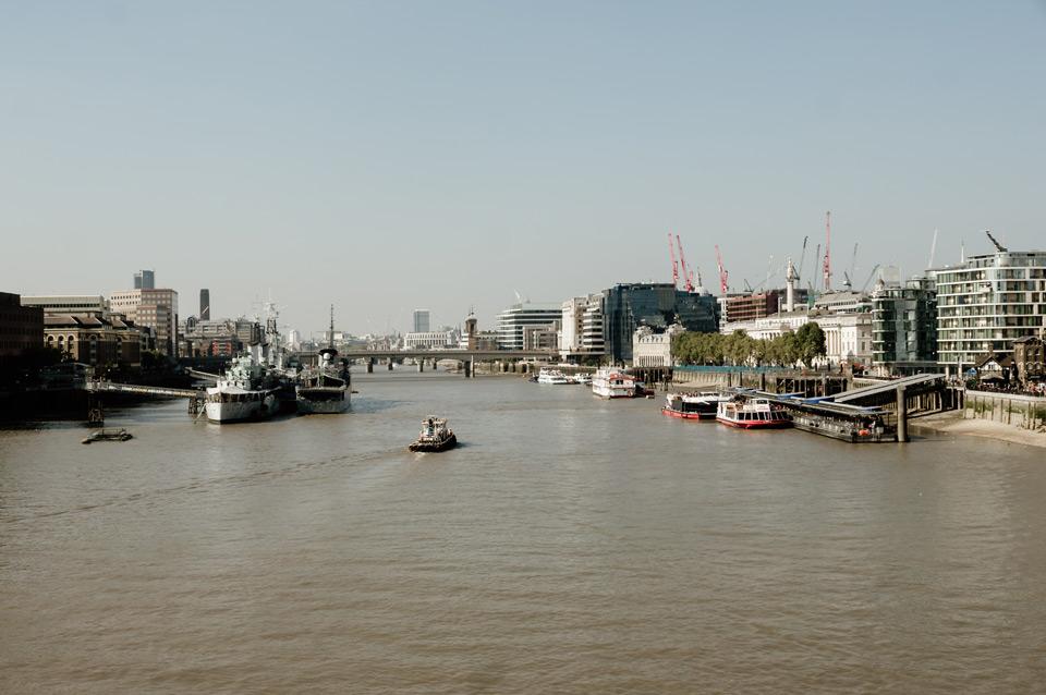 London, views from Tower Bridge