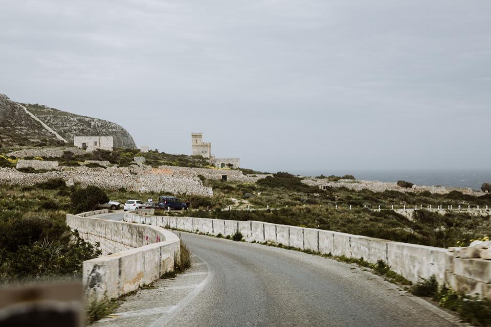 Malta, road to Ghar Lapsi Divesite