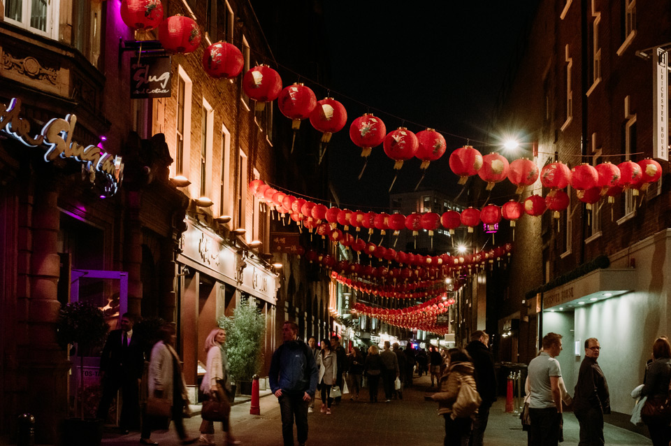 London, Chinatown district