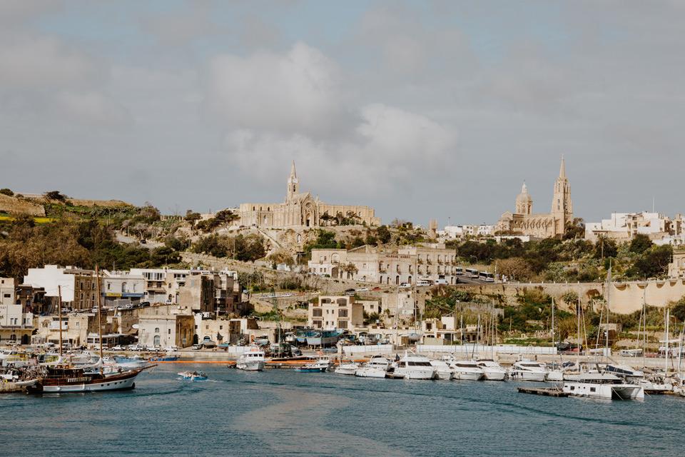 Gozo, harbor at Mgarr