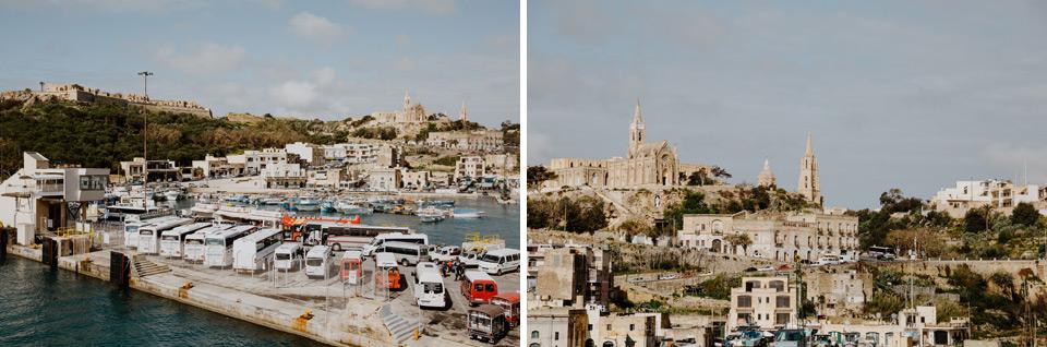 Gozo, port at Mgarr