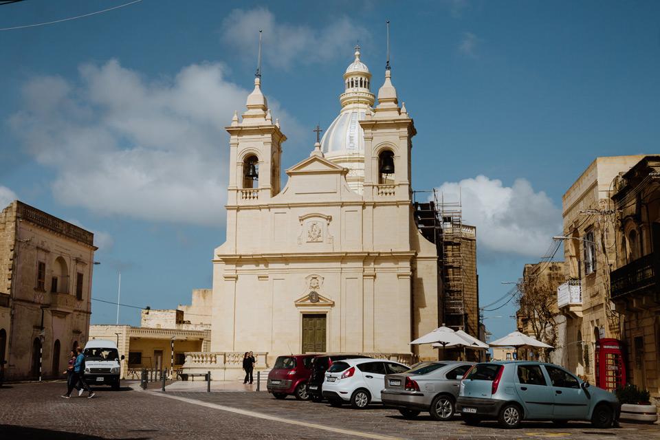 Gozo, church in San Lawrenz