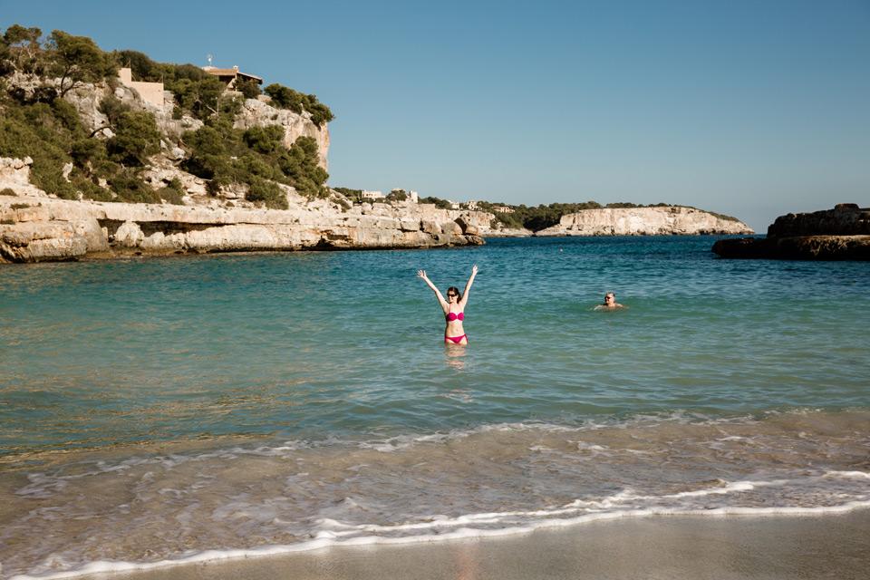 Mallorca, Cala Llombards, bath