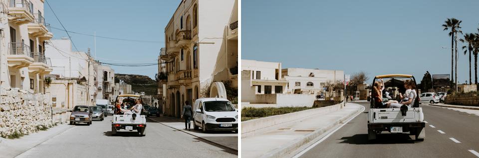 Gozo, road to basilica Ta' Pinu