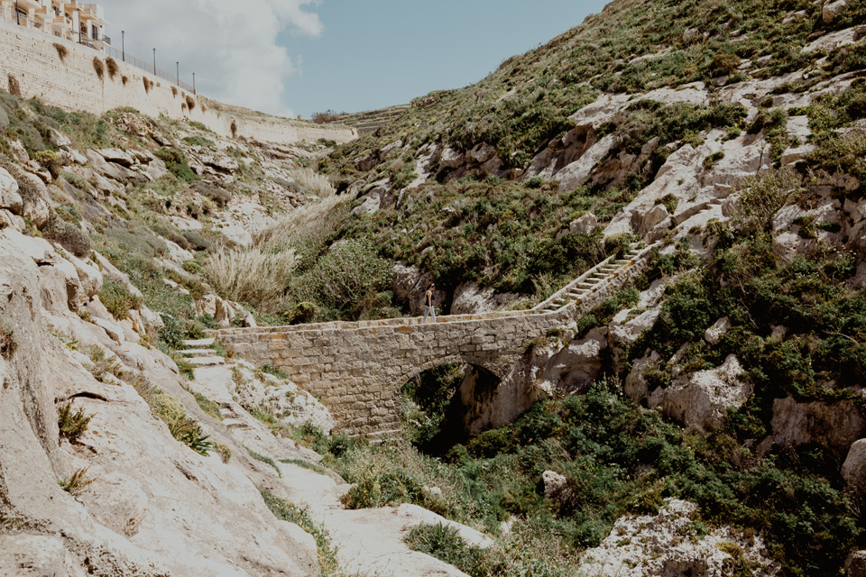 Gozo, Xlendi bay, stone bridge