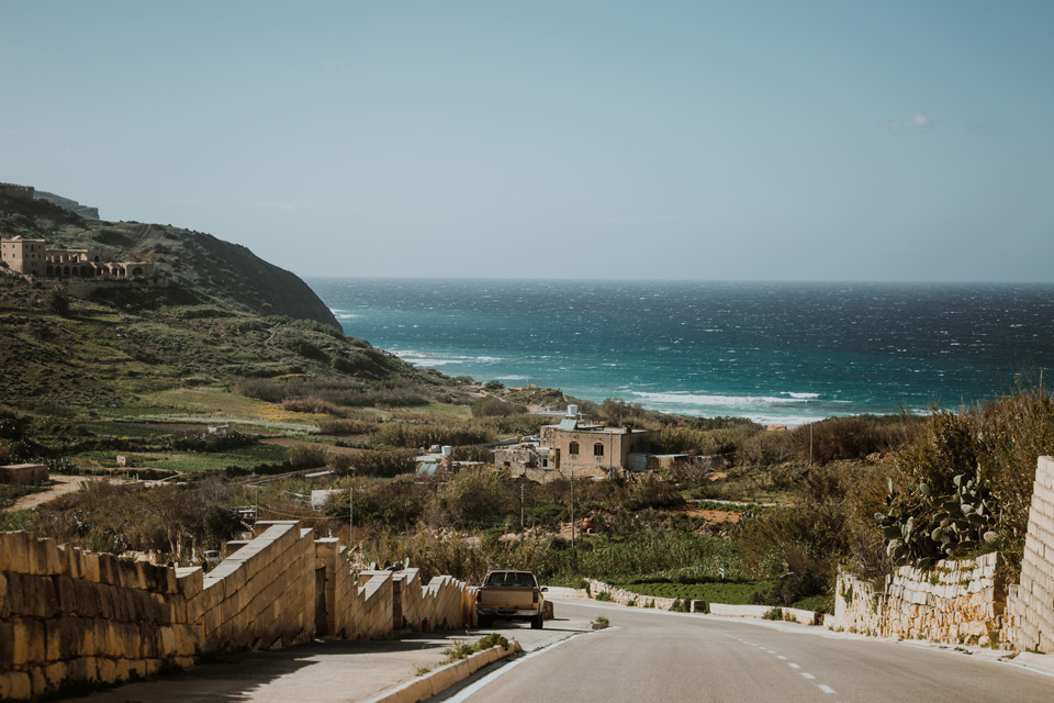 Gozo, road to Ramla Bay