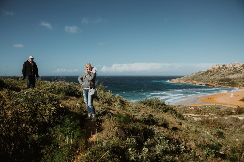 Gozo, stroll from Ramla Bay to Calypso Cave