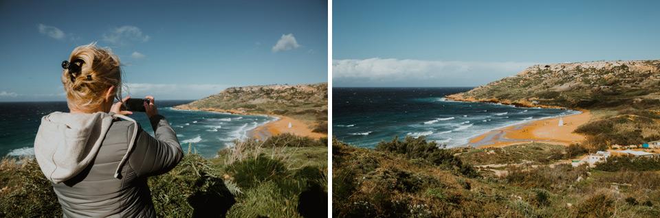 Gozo, spacer z Ramla Bay do Calypso Cave