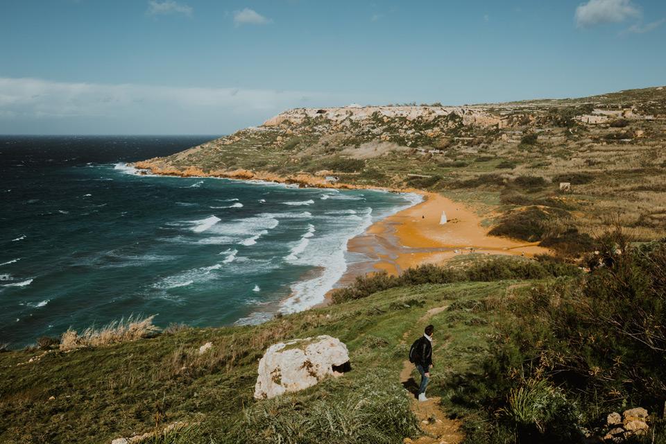 Gozo, walk from Ramla Bay to Calypso Cave
