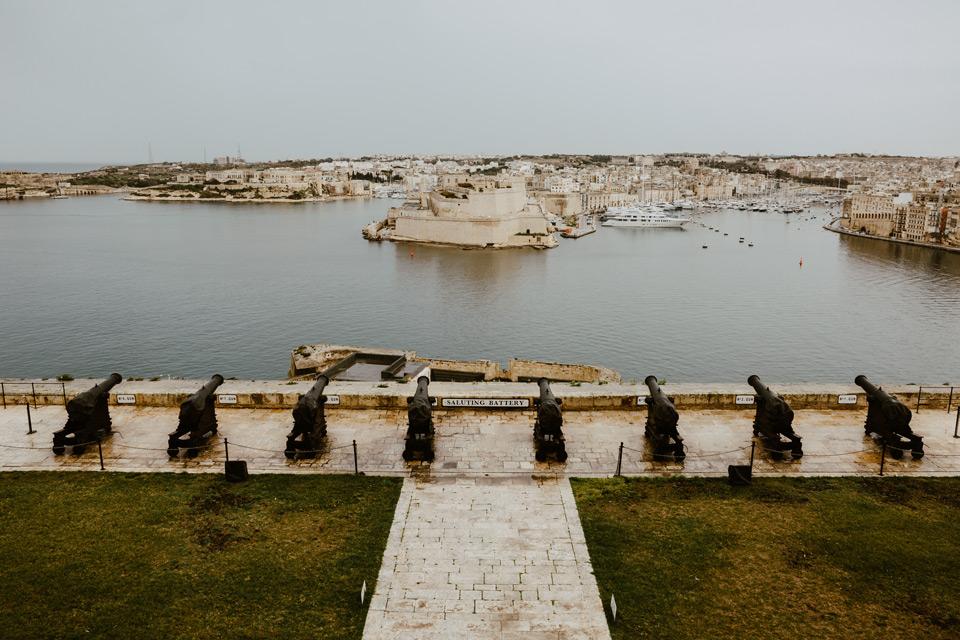 Malta, Valletta, Barrakka Gardens