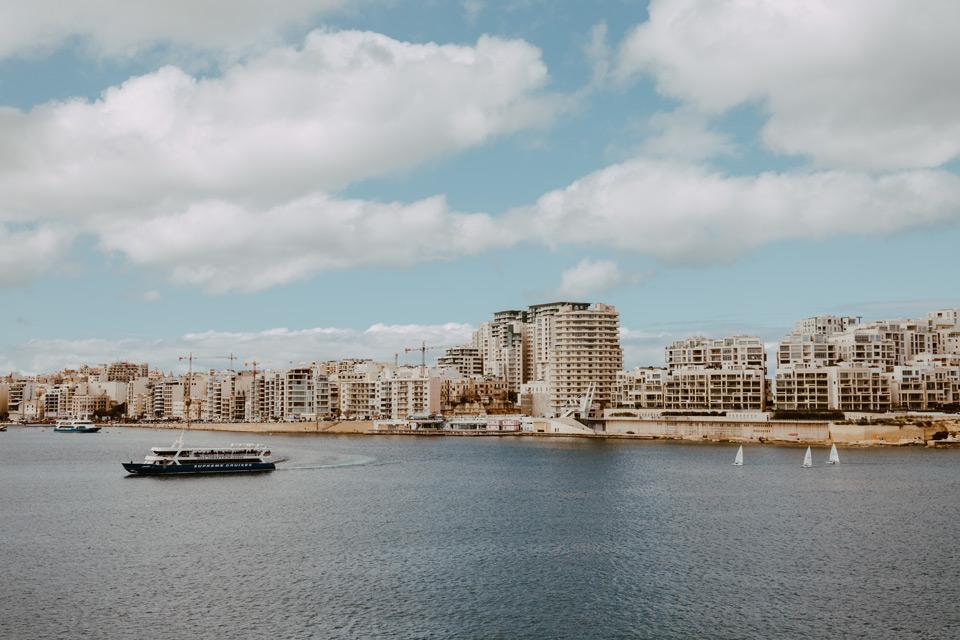 Malta, Valletta, view of Sliema city