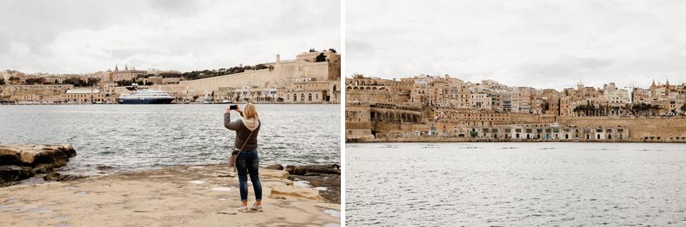 Malta, Birgu, view of Valetta city