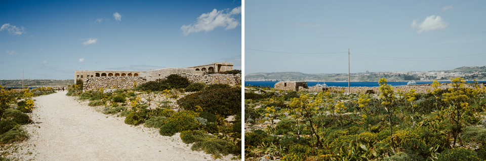 Comino, trail in the south