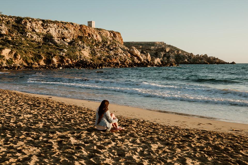 Malta, Golden Bay- sunset