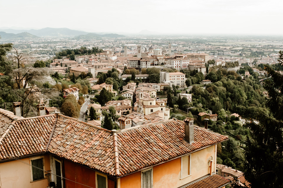 Bergamo, San Vigilio, views of the Città Alta