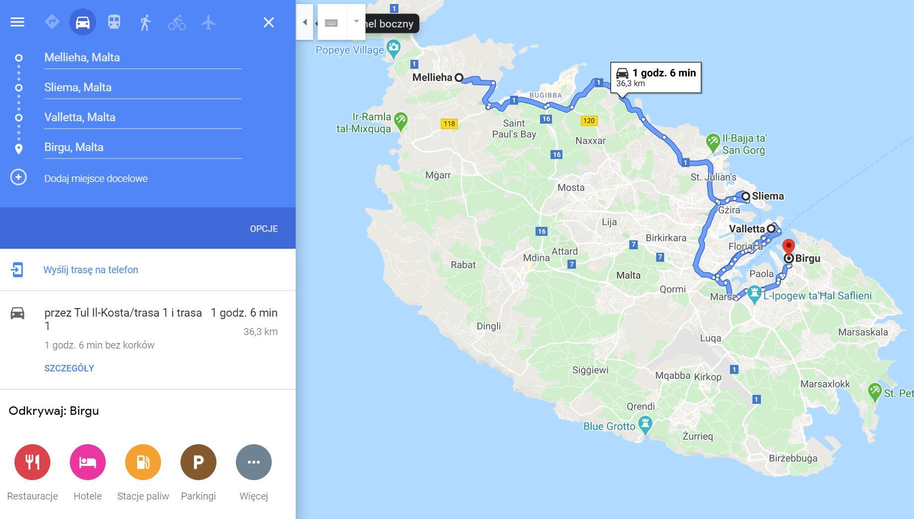 Malta, route 3