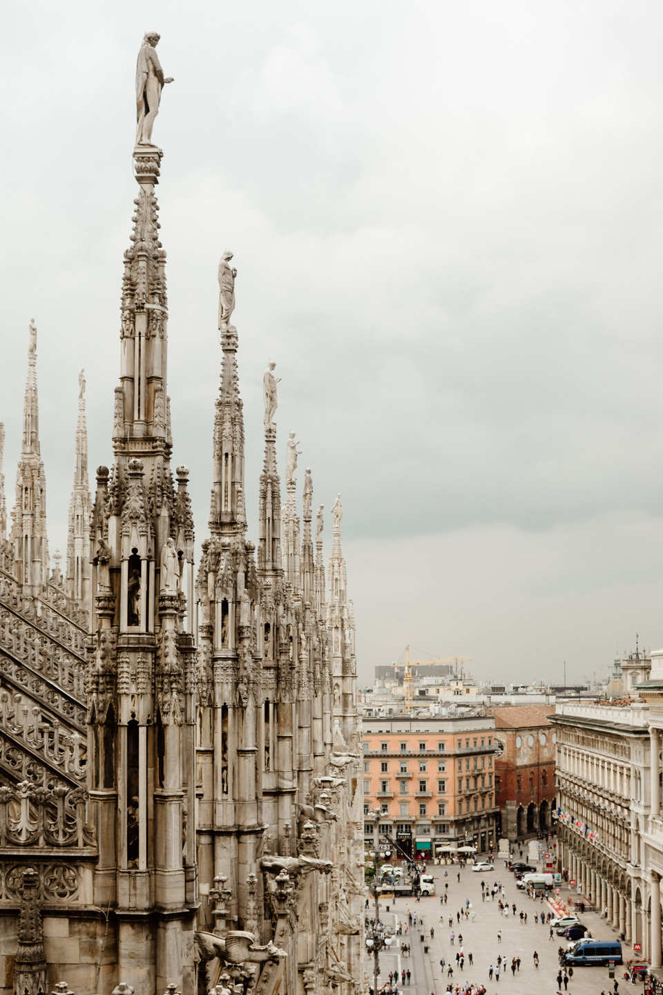 Milan, the roof of the Duomo di Milano cathedral