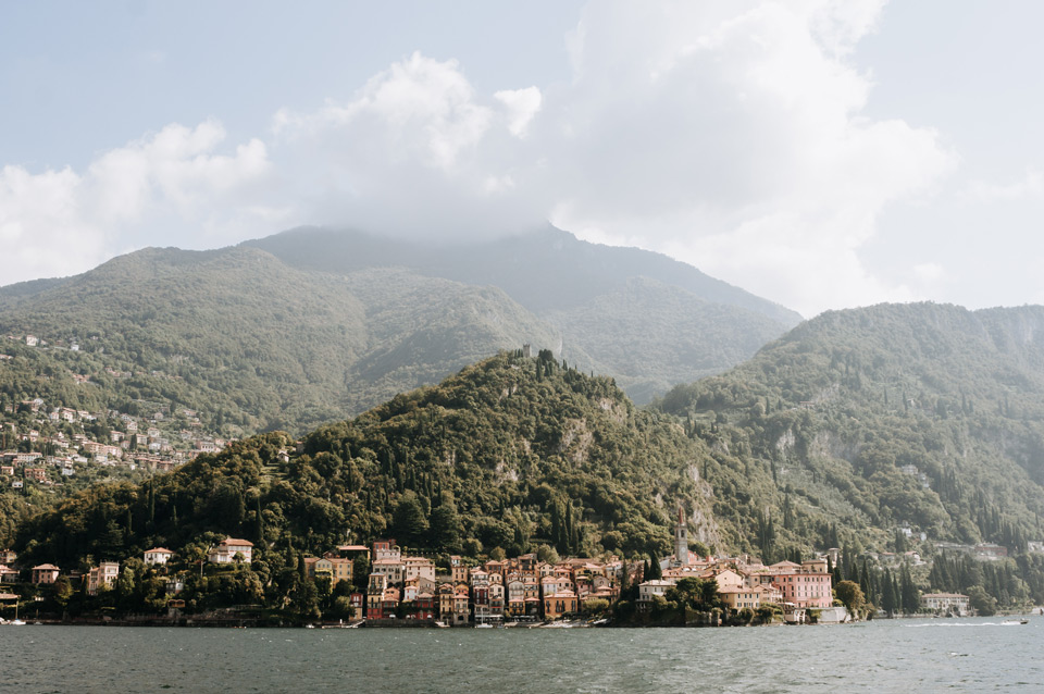 Lake Como, Varenna- view from the ferry