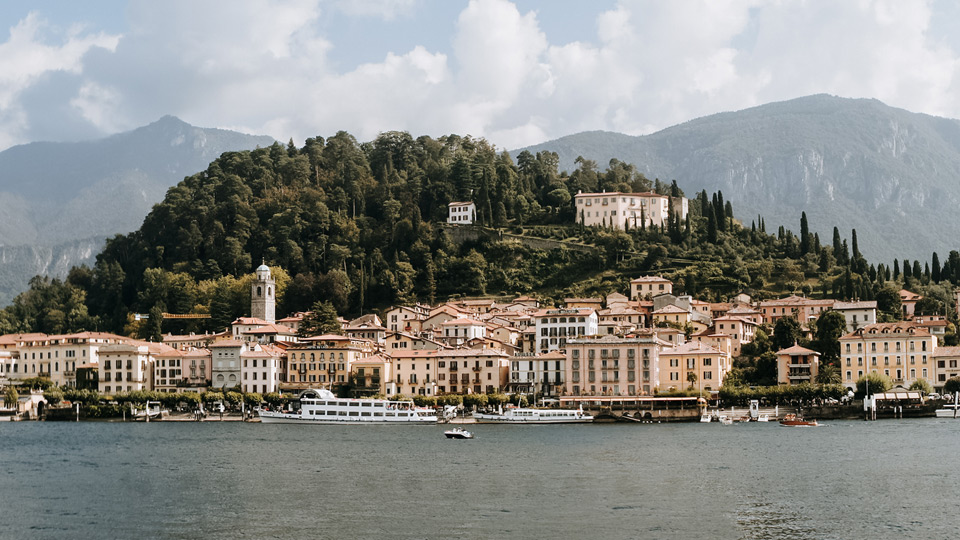 Lake Como, Bellagio- view from the ferry